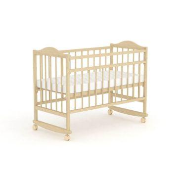 Кроватка детская Фея 204 (качалка-колесо) (Бежевый)