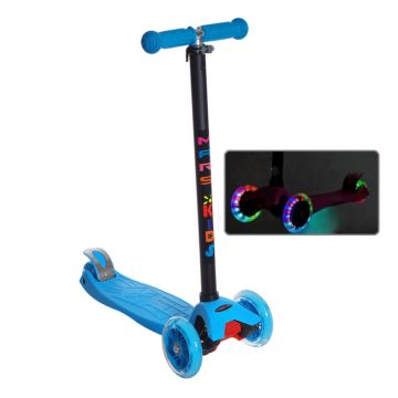 Самокат Sun Color Mars Kids Maxi со светящимися колесами (голубой)