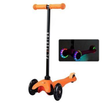 Самокат Playshion Mini Kids FS-MS001L со светящимися колёсами (Оранжевый)