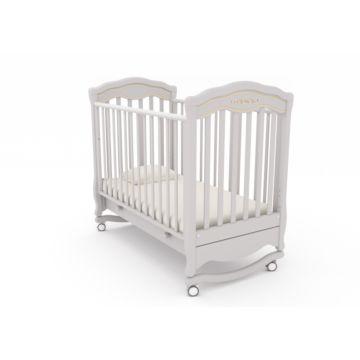 Кроватка детская Гандылян Шарлотта Люкс (качалка-колесо) (белая ночь)