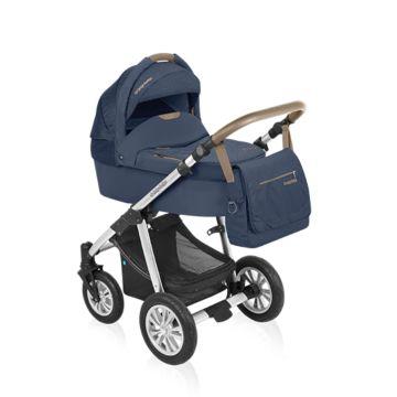 Коляска 2 в 1 Baby Design Dotty Denim (синий)