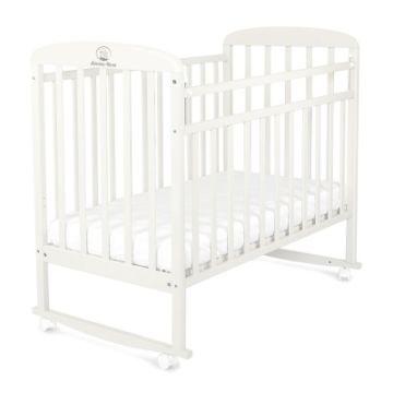 Кроватка детская Альма-Няня Милана (качалка-колесо) (белый)