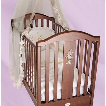 Кроватка детская Feretti FMS Ricordo (продольный маятник) (орех)