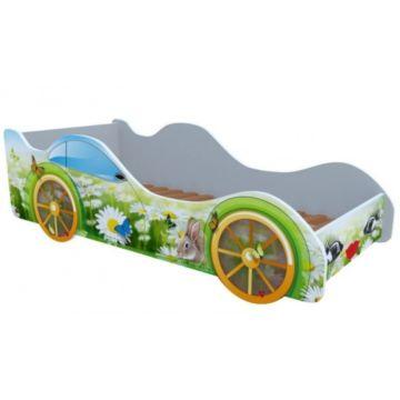 Кровать-машина Кроватка5 Машинки (Кролик в ромашках)