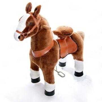 Поницикл Ponycycle Коричневая лошадка белое копытце малый (коричневый)