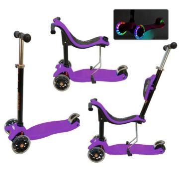 Самокат Ecoline Onex 3D со светящимися колесами (фиолетовый)