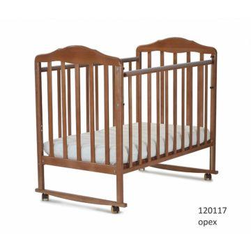 Кроватка детская СКВ-Компани Березка (качалка-колесо) Орех