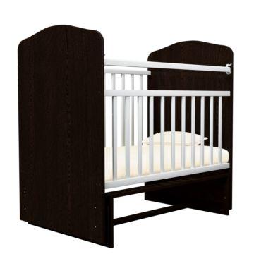 Кроватка детская Агат Золушка-10 (поперечный маятник) (Шоколад+Белый)