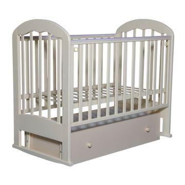 Кроватка детская Кедр Любаша 3-2 (поперечный маятник) (слоновая кость)