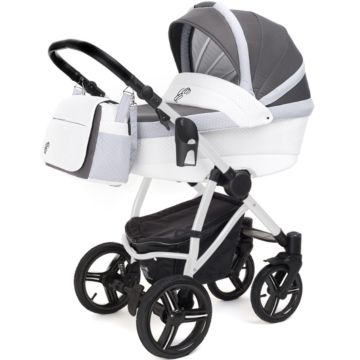 Коляска 2 в 1 Esspero Grand Newborn Lux White Royal Silver
