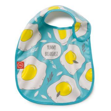 Нагрудник Happy Baby Expert на липучке (Голубой)