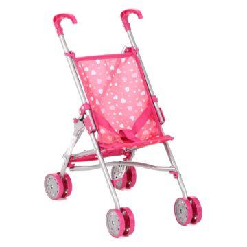 Коляска для куклы Melobo S9307 (Розовый/сердечки)