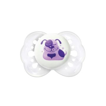 Пустышка Lubby Нежная для сна (со световыми эффектами) (Белый)