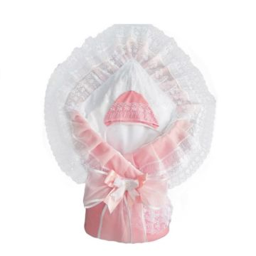Комплект на выписку демисезонный Alis Воздушный (10 предметов) (розовый)
