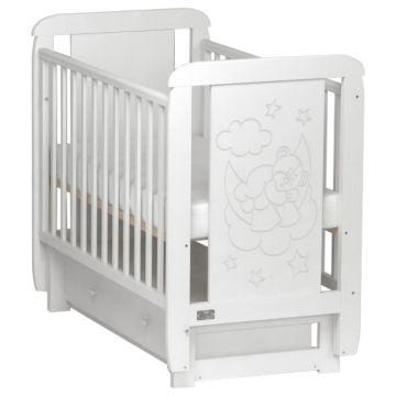 Кроватка детская Kitelli Orsetto (поперечный маятник) (белый)
