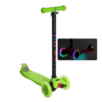 Самокат Sun Color Mars Kids Maxi со светящимися колесами (зеленый)