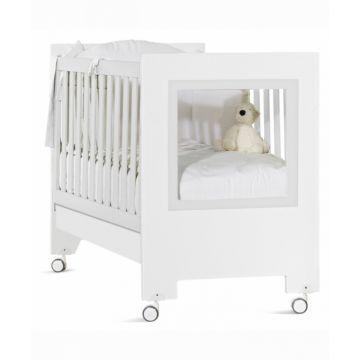 Кроватка Feretti Le Chic (колесо) (белая)