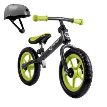 Беговел Lionelo Fin Plus со шлемом безопасности (лайм)