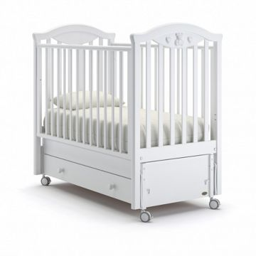Кроватка детская Nuovita Lusso Swing (продольный маятник) (белый)