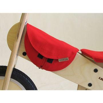 Сумочка на раму деревянного беговела Kokua Джинс (красный)