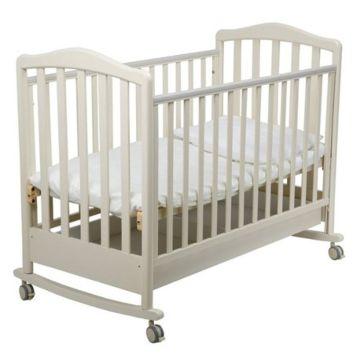 Кроватка детская Papaloni Винни (качалка-колесо) (Слоновая кость)
