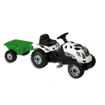 Трактор на педалях Smoby GM Bull (белый)