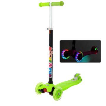 Самокат Moove&Fun Maxi Led со светящимися колесами (зеленый)
