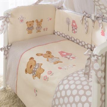 Комплект постельного белья Perina Венеция 105х170см (3 предмета, хлопок/сатин) (Бежевый)