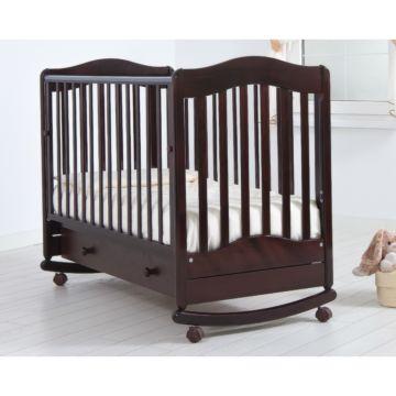 Кроватка детская Гандылян Ванечка (качалка-колесо) (махагон)