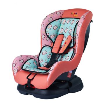 Автокресло Liko Baby LB-303 C (розовый/обезьянки)