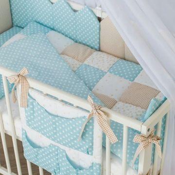 Комплект постельного белья Martoo Mosaik (7 предметов) голубой