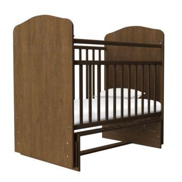 Кроватка детская Агат Золушка-10 (поперечный маятник) (Шоколад)