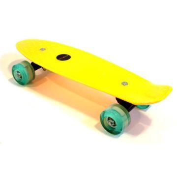 """Детский мини-круизер Ecoline Astro 17"""" со светящимися колесами (желтый)"""
