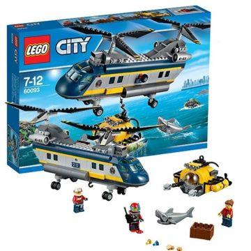 Конструктор Lego City 60093 Город Вертолет исследователей моря
