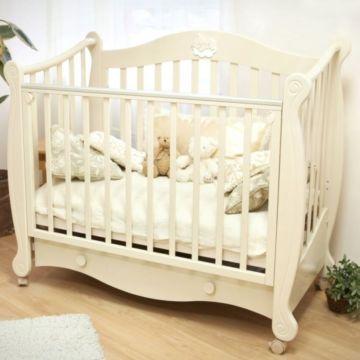 Кроватка детская Можга Валерия С 749 (колесо) (слоновая кость)
