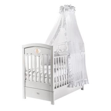 Кроватка детская Feretti FMS Enchant (продольный маятник) (белая)