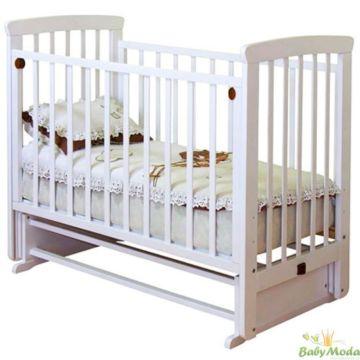 Кроватка детская Можга Марина (поперечный маятник) (белый)