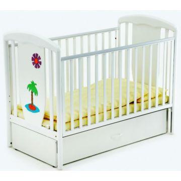 Кроватка детская Papaloni Vitalia (продольный маятник) (Белый)