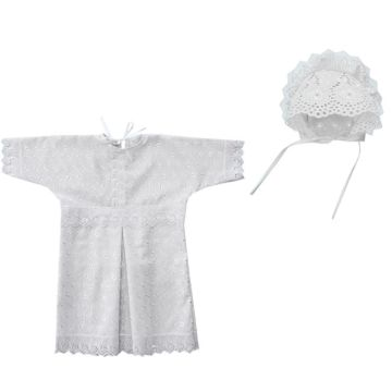 Крестильная рубашка и чепчик для мальчика Little People