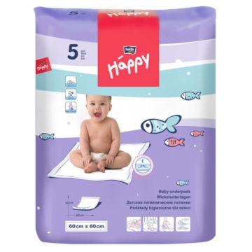 Пелёнки одноразовые Bella Baby Happy 60х60см (5 шт)