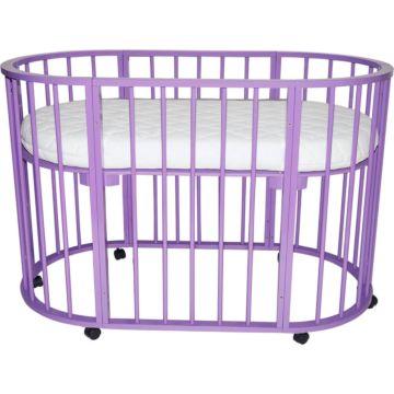 Кроватка-трансформер Valle Domenica 9 в 1 (фиолетовый)