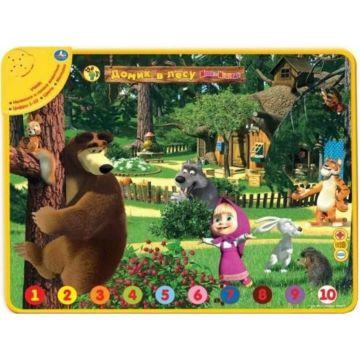 Развивающий коврик Умка Маша и медведь: дикие животные