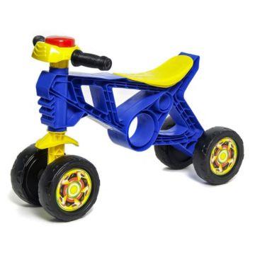 Беговел-мотоцикл RT Самоделкин ОР171 с клаксоном 4 колеса (синий)