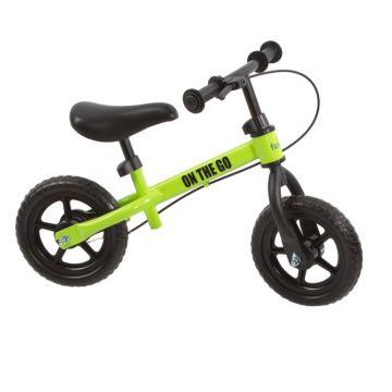 Беговел FunKids On-the-Go с ПВХ колесами (зеленый)