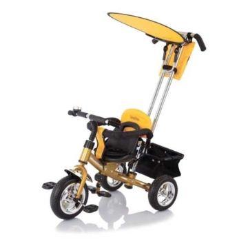 """Трехколесный велосипед Jetem Lexus Trike Next Generation с ПВХ-колесами 10"""" и 8"""" (желтый)"""