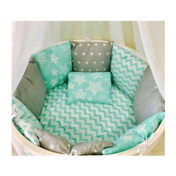 Комплект постельного белья Incanto Мозаика (10 предметов, бязь) (голубой)