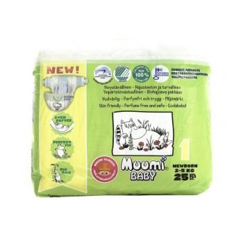 Подгузники MiniMax Muumi Baby Newborn (2-5 кг) 25 шт.