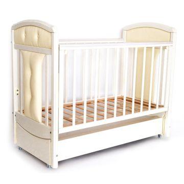 Кроватка детская Birichino Vera с продольным маятником (слоновая кость)