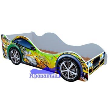 Кровать-машина Кроватка5 Машинки (Зеленый дракон)
