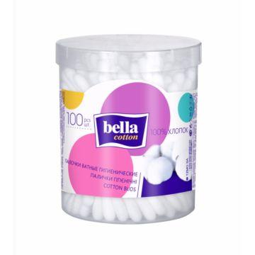 Палочки ватные Bella Cotton в пластиковой круглой упаковке 100 шт